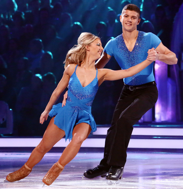 Luke Campbell and Jenna Harrison in the skate-off.