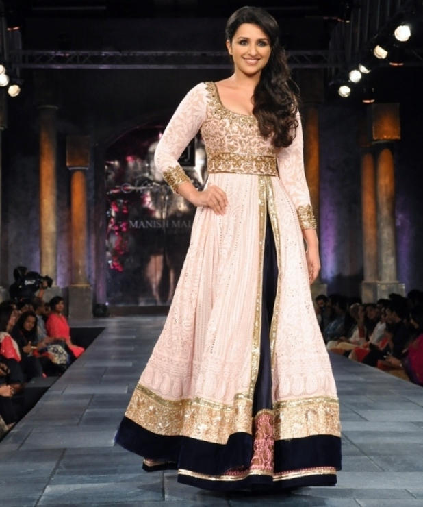 Parineeti Chopra walks the catwalk in Manish Malhotra's first UK collection