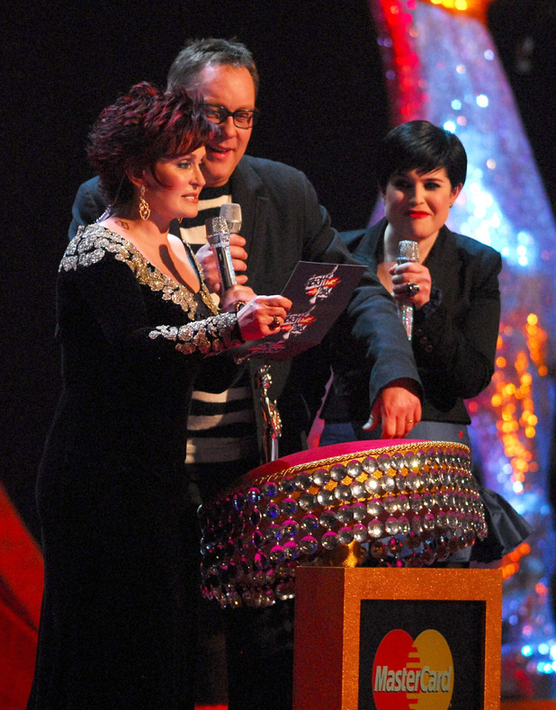 Sharon Osbourne, Kelly Osbourne and Vic Reeves