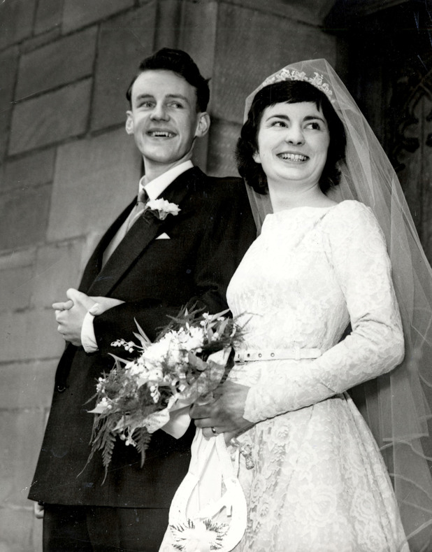 Richard Briers alongside his wife Ann Davies