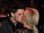 Ellie Goulding kisses actor Jeremy Irvine