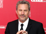 Kevin Costner with his Lifetime Achievement Award at the Cesar Cinema Awards.