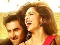 The video portrays Ranbir Kapoor and Deepika Padukone in a Holi sequence.