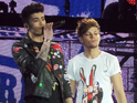 Malik and Niall Horan get emotional during a rendition of 'Little Things'.