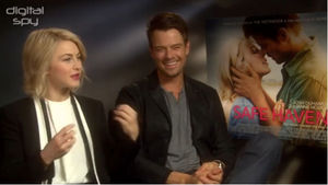 Julianne Hough, Josh Duhamel 'Safe Haven' interview