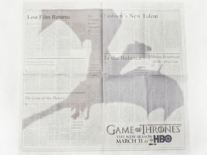 Game of Thrones season 3 advert in the NYT