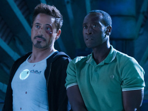 Robert Downey Jr and Don Cheadle in 'Iron Man 3'