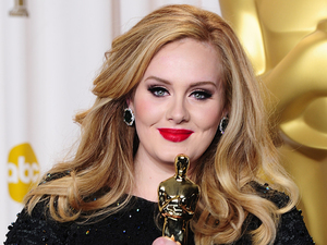 Adele with the 'Best Original Song' Oscar for 'Skyfall'