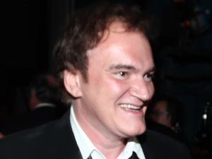 Quentin Tarantino backstage with his Oscar for 'Best Original Screenplay'