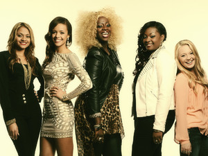 American Idol season 12: Breanna Steer, Aubrey Cleland, Zoanette Johnson, Candice Glover and Janelle Arthur