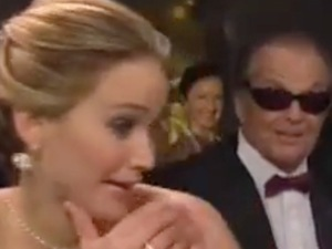 Jennifer Lawrence shocked by Jack Nicholson
