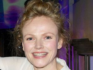 Maxine Peake at the BBC Audio Drama awards with 'Best Supporting Actor' winner David Troughton