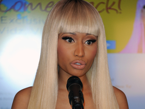 Nicki Minaj answers questions at the Nicki Minaj Kmart Shop Your Way media event.