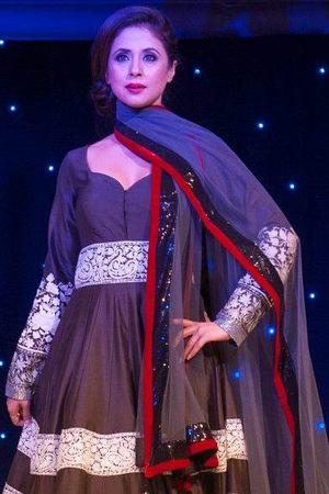 Urmila Matondkar takes part in a fashion show for The Angeli Foundation in London