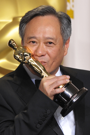 Ang Lee with his 'Best Director' Oscar for 'Life of Pi'