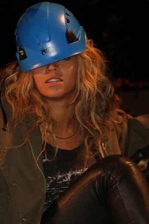 Beyonce in a hard hat