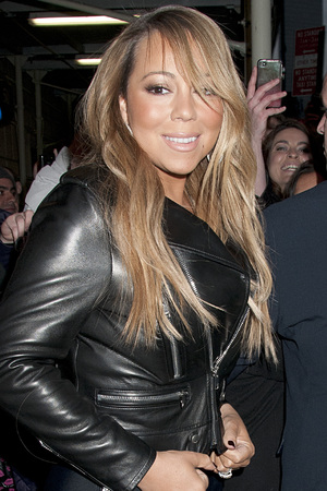 Mariah Carey in New York ready to appear on &#39;Late Night with Jimmy Fallon&#39;