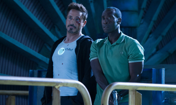 Robert Downey Jr and Don Cheadle