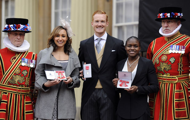 London 2012 stars Jessica Ennis, Greg Rutherford, Nicola Adams get royal honours