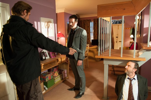 Brendan finds Walker with Seamus in the flat