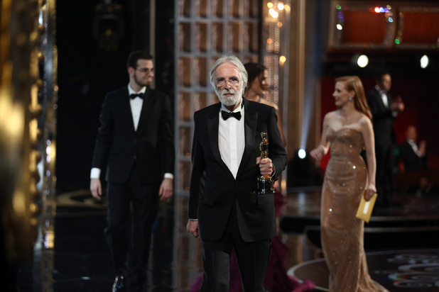 Michael Haneke wins the Oscar for 'Best Foreign Language Film'
