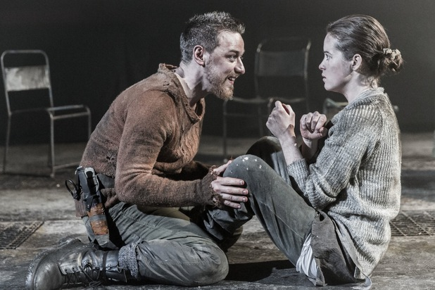 James McAvoy (Macbeth) & Claire Foy (Lady Macbeth) in Macbeth, Trafalgar Studios