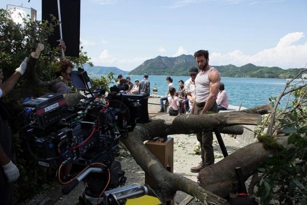 Hugh Jackman filming