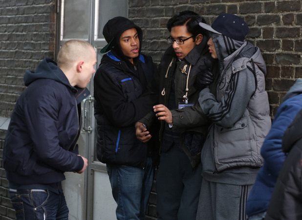 Tamwar is accosted by the gang.