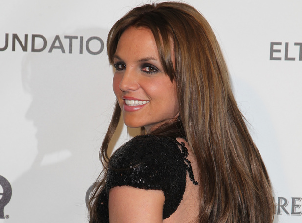 Britney Spears at the Elton John AIDS Foundation's Oscar Viewing Party