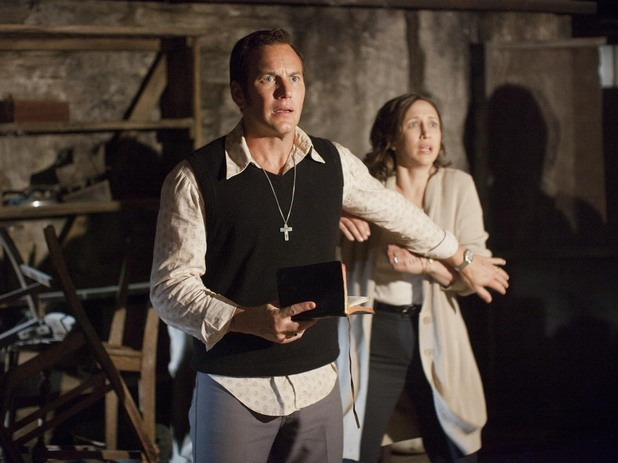 Vera Farmiga (Lorraine Warren) and Patrick Wilson (Ed Warren) in 'The Conjuring'
