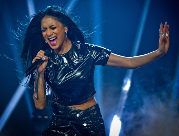 Nicole Scherzinger performs on Let's Dance.