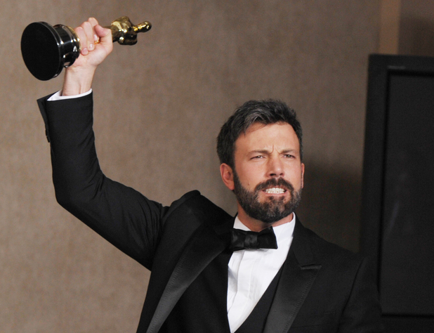 Ben Affleck with his 'Best Picture' award for 'Argo'