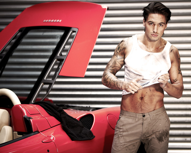 Mario Falcone in a photoshoot for More magazine