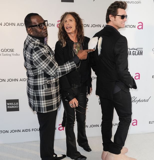 85th Annual Academy Awards Oscars, Elton John AIDS Foundation Party, Los Angeles, America - 24 Feb 2013 Randy Jackson, Steven Tyler, Jim Carrey