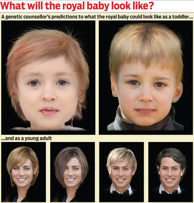 Suretha Erasamus, a geneticist from Johannesburg has made an image of what the royal baby could look like when older