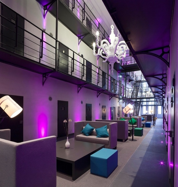 Prison turned into modern luxury hotel
