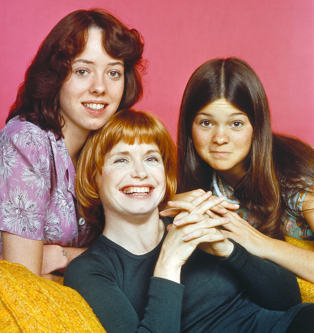 MacKenzie Phillips (as Julie Cooper), Bonnie Franklin (as Ann Romano), Valerie Bertinelli (as Barbara Cooper) One Day at a Time (CBS) season 1 USA - 1975-1976