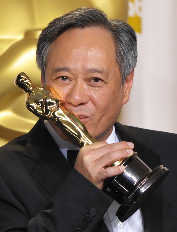 Ang Lee with his &#39;Best Director&#39; Oscar for &#39;Life of Pi&#39;