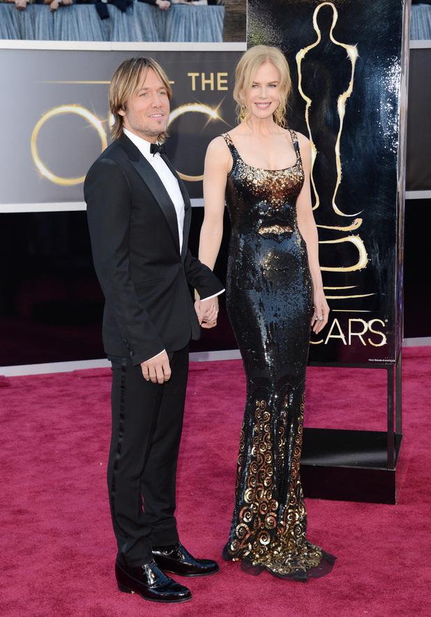 Nicole Kidman, Keith Urban, Oscars 2013
