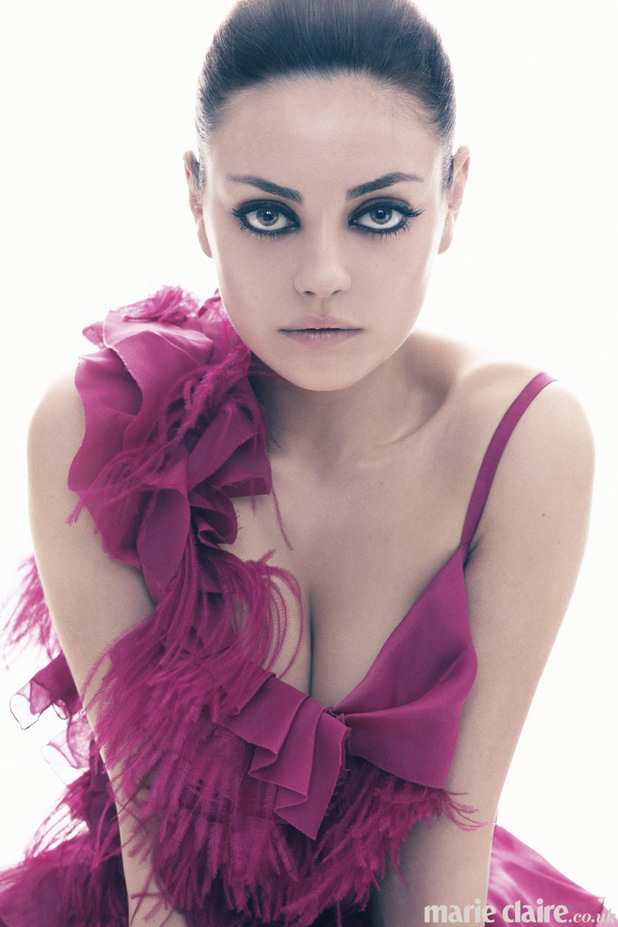 Mila Kunis photo shoot for the April Issue of Marie Claire magazine