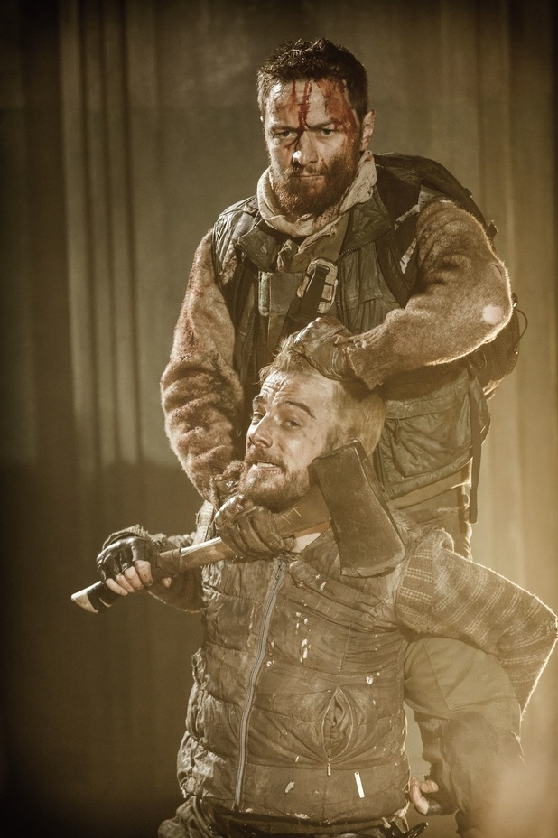 James McAvoy (Macbeth) & Kevin Guthrie (Lennox) in Macbeth, Trafalgar Studios