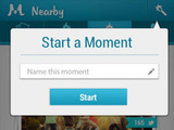 &#39;Moment.me&#39; screenshot