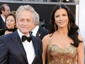 "Michael Douglas praises his wife for ""getting balanced"" at rehab."