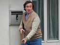 North Norfolk Digital presenter armed with rifle on the set of The Alan Partridge Movie.