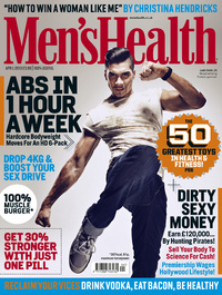 Louis Smith in the April issue of Men's Health magazine