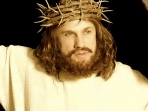 Christoph Waltz in Saturday Night Live's controversial Djesus Uncrossed sketch