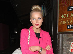 Miss Mode: Helen Flanagan with a Chanel handbag