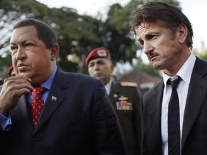Hugo Chavez, Sean Penn, Caracas, Venezuela
