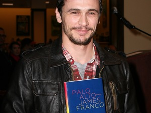 James Franco with his book 'Palo Alto'