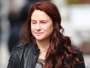 Shailene Woodley filming on location for 'The Amazing Spider-Man 2'